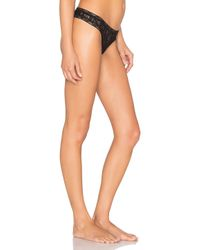 Only Hearts - Black Stretch Lace Thong - Lyst
