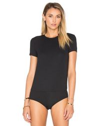 Only Hearts - Black Feather Weight Rib T Shirt Bodysuit - Lyst