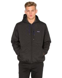Lyst Patagonia Diamond Quilt Bomber Hoody In Black For Men