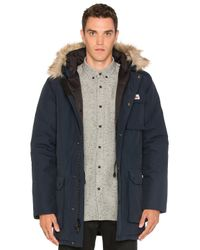 Penfield | Blue Lexington Faux Fur Trim Hooded Mountain Parka for Men | Lyst