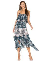 Parker | Blue Reuben Combo Dress | Lyst