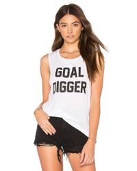 Private Party - White Goal Digger Tank - Lyst