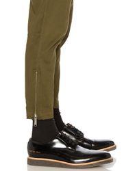 Public School | Black Charmeuse Waist Ankle Pants for Men | Lyst