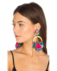 Ranjana Khan | Blue Flower Hoop Earring | Lyst