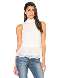Rebecca Taylor | White Terry Lace Top | Lyst