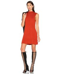 RVCA   Red Banked Sweater Dress   Lyst