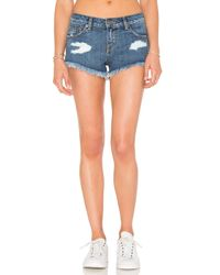 RVCA - Blue Hello Mellow Short - Lyst