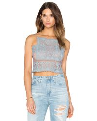 Stone Cold Fox - Blue Chrous Crop Top - Lyst