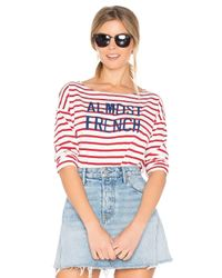 Sundry | Red Almost French Long Sleeve Tee | Lyst