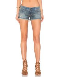 Siwy | Blue Siwy Madeline Cut Off Shorts with Exposed Pockets in One More Try | Lyst
