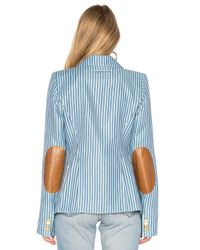 Smythe - Blue Patch Pocket Duchess Blazer - Lyst