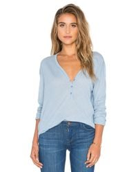Splendid - Blue Heathered Long Sleeve Top - Lyst