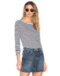 Splendid | Blue French Stripe Long Sleeve Tee | Lyst