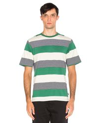 Stussy | Green Sidney Stripe Crew for Men | Lyst