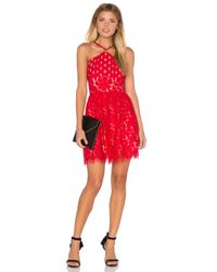 StyleStalker | Red Cassia Circle Dress | Lyst