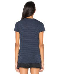 Stateside - Blue Stripe Twist Tee - Lyst