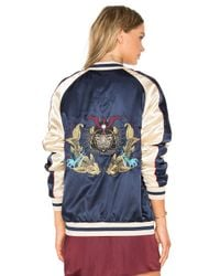 Standard Issue - Blue Samurai Bomber Jacket - Lyst