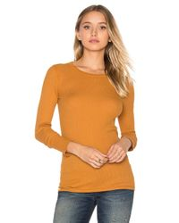 Three Dots | Multicolor Long Sleeve Crew Neck Tee | Lyst