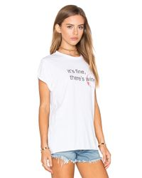 The Laundry Room White It's Fine Rolling Tee
