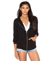 Wildfox - Black Basics Zip Up Jacekt - Lyst