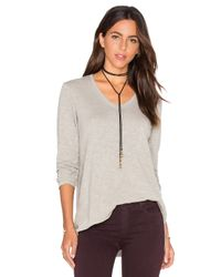 Wilt | Gray Vintage V Neck Long Sleeve Top | Lyst