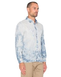 X-Large - Blue L/s Chambray Button Down for Men - Lyst