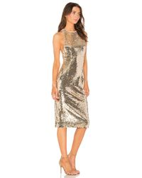 Misha Collection - Metallic Amya Dress - Lyst