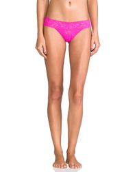 Hanky Panky - Pink Low Rise Thong - Lyst