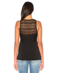 BCBGeneration - Black Tassel Tie Top - Lyst