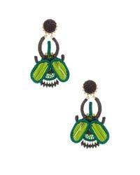 Mercedes Salazar - Green Escabarajo Beetle Earrings - Lyst