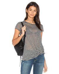 Stateside - Gray Stripe Twist Tee - Lyst