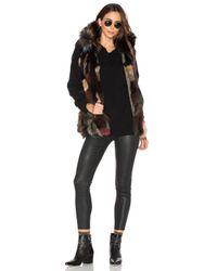 Sam. - Black Multi Kate 4-in-1 Jacket With Fox Fur - Lyst