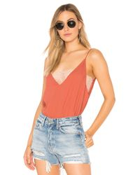 Free People - Pink Deep V Bandeau Camisole - Lyst
