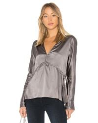 Elizabeth and James - Gray Ophelie Blouse - Lyst