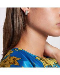 River Island - Metallic Tone Jewel Clip On Earrings - Lyst