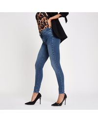 River Island Blue Mid Molly Skinny jeggings