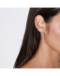 River Island - Blue Gem September Birthstone Stud Earrings - Lyst