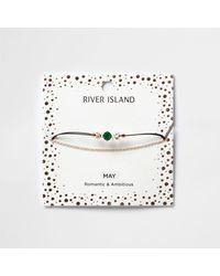 River Island - Green May Birthstone Chain Bracelet - Lyst