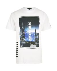 River Island | White Stockholm Photo Print T-shirt for Men | Lyst