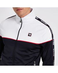 Gola Blue Panel Zip Through Jacket for men