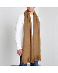 River Island - Brown Camel Blanket Scarf for Men - Lyst