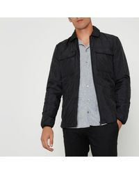 River Island | Black Only & Sons Padded Jacket for Men | Lyst