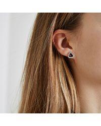 River Island - Purple Gem February Birthstone Stud Earrings - Lyst