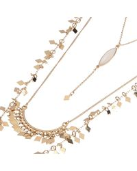 River Island - Metallic Gold Tone Multiple Layer Necklace - Lyst