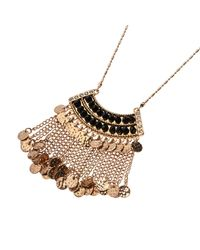 River Island - Metallic Gold Tone Dangly Long Necklace - Lyst