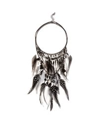 River Island | Black Layered Feather Necklace | Lyst