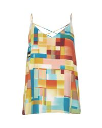 River Island - Yellow Print Cami Top - Lyst