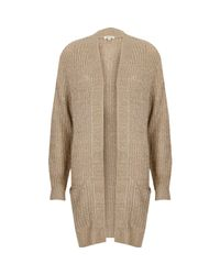 River Island | Natural Beige Knit Sequin Cardigan | Lyst