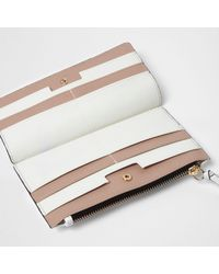 River Island | White Panel Slim Foldout Purse | Lyst