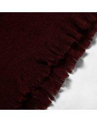 River Island - Dark Red Soft Blanket Scarf - Lyst